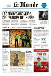 Le Monde du Dimanche 10 et Mardi 12 Novembre 2019