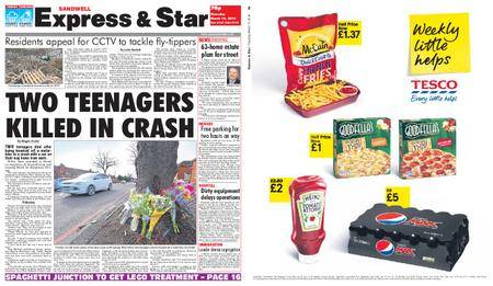 Express and Star Sandwell Edition – March 15, 2018