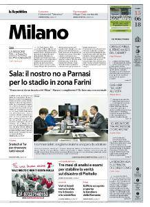 la Repubblica Milano - 15 Giugno 2018