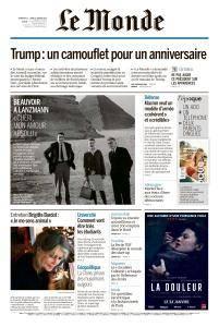 Le Monde du Dimanche 21 et Lundi 22 Janvier 2018