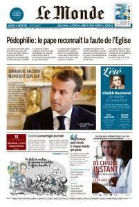 Le Monde du Mercredi 22 Août 2018