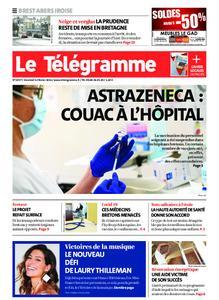 Le Télégramme Brest Abers Iroise – 12 février 2021