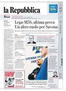 la Repubblica - 31 Maggio 2018