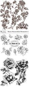 Vectors - Roses Decoration Elements 2