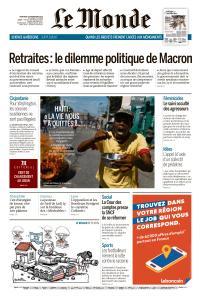 Le Monde du Mercredi 20 Novembre 2019
