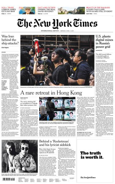 International New York Times - 17 June 2019