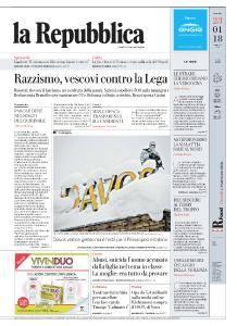la Repubblica - 23 Gennaio 2018