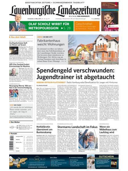 Lauenburgische Landeszeitung - 4 März 2017