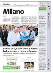 la Repubblica Milano - 21 Aprile 2018