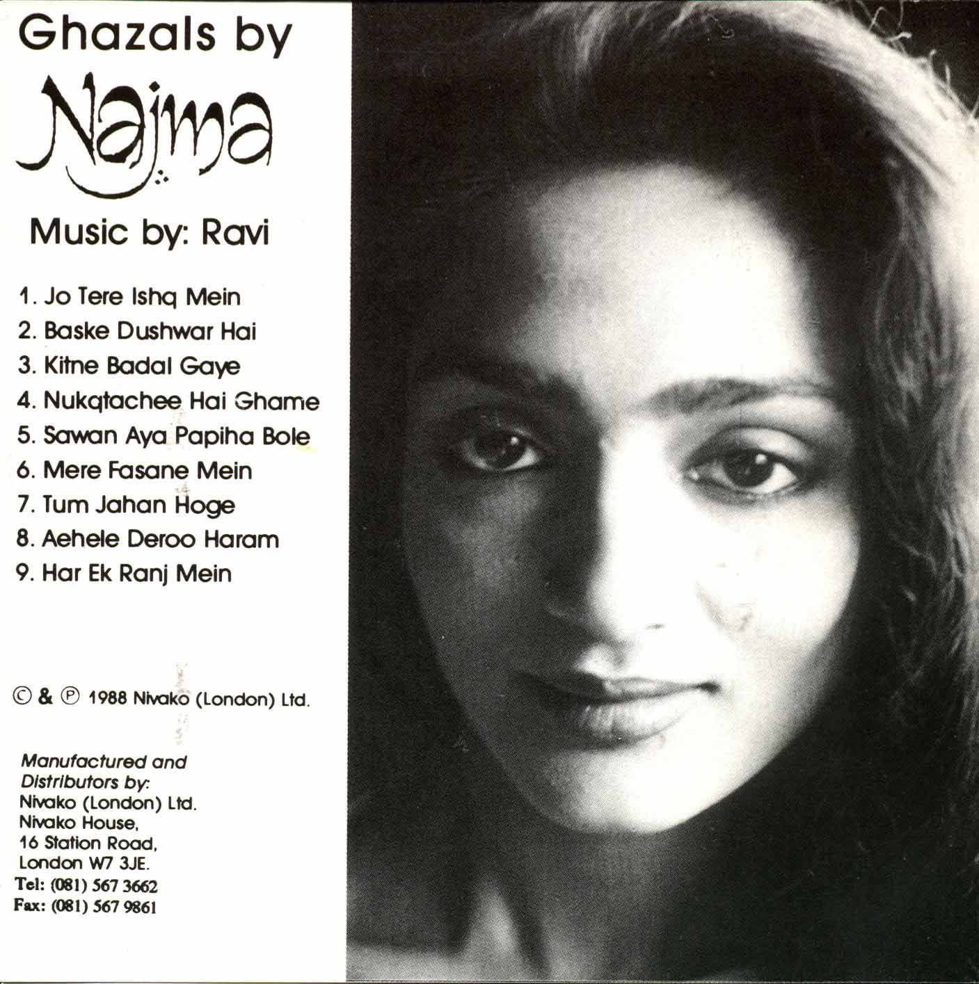 NAJMA - Ghazals by Najma