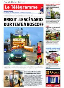 Le Télégramme Brest Abers Iroise – 02 octobre 2019