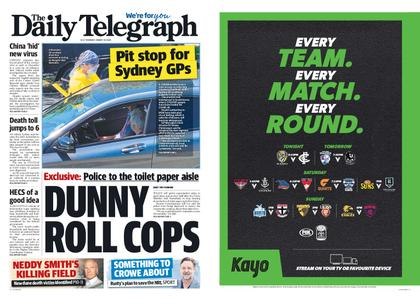 The Daily Telegraph (Sydney) – March 19, 2020