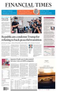 Financial Times Asia - September 25, 2020