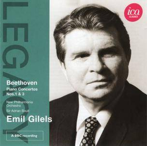 Emil Gilels, New Philharmonia, Sir Adrian Boult - Ludwig van Beethoven: Piano Concertos Nos. 1 & 3 (2011) [Re-Up]