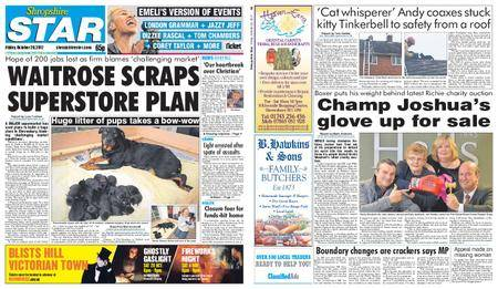 Shropshire Star Shrewsbury Edition – October 20, 2017
