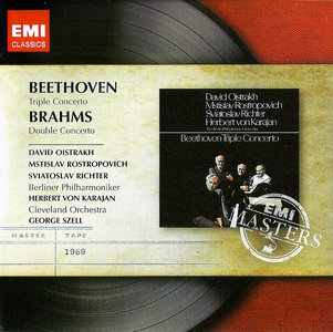S. Richter, M. Rostropovich, D. Oistrakh - Beethoven: Triple Concerto, Op. 56; Brahms: Double Concerto, Op. 102 (2012) [Re-Up]