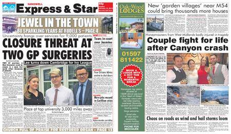 Express and Star Sandwell Edition – February 13, 2018