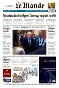 Le Monde du Mercredi 18 Décembre 2019