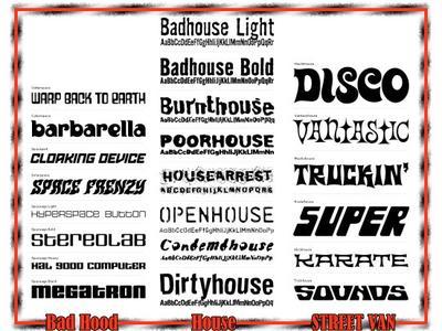 House Fonts: 3 sets