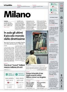 la Repubblica Milano - 18 Febbraio 2018