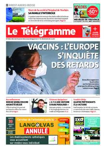 Le Télégramme Brest Abers Iroise – 27 janvier 2021