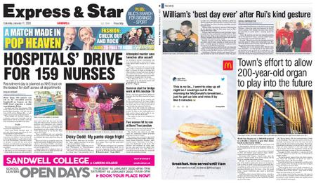 Express and Star Sandwell Edition – January 11, 2020