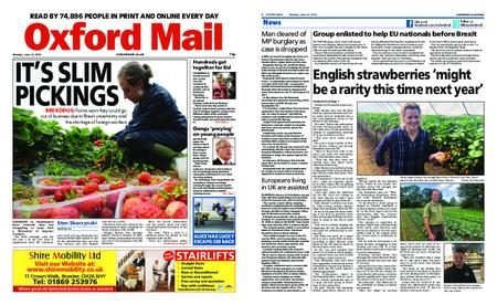 Oxford Mail – June 10, 2019