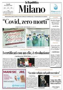 la Repubblica Milano - 25 Maggio 2020