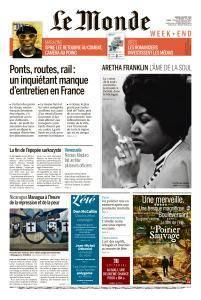 Le Monde du Samedi 18 Août 2018