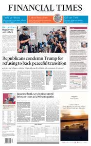 Financial Times Europe - September 25, 2020