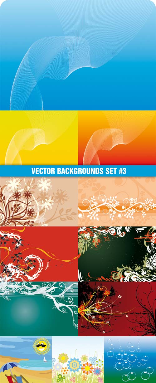 Vector Backgrounds Set #3