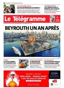 Le Télégramme Ouest Cornouaille – 04 août 2021