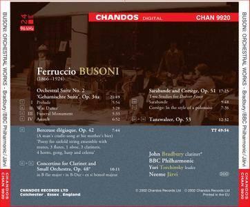 John Bradbury, BBC Philharmonic, Neeme Järvi - Busoni: Orchestral Works, Vol.1 (2002) (Repost)
