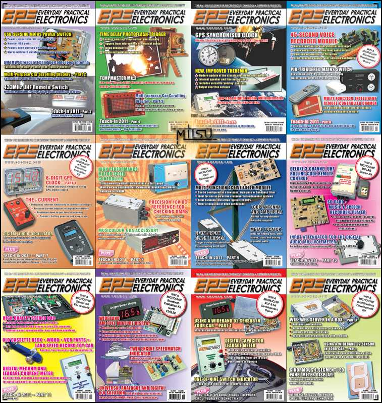 Everyday Practical Electronics (EPE) - Full Year 2011 Issues Collection