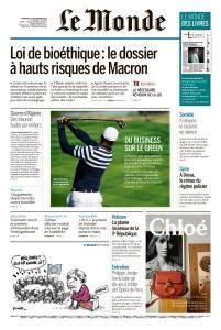 Le Monde du Vendredi 28 Septembre 2018