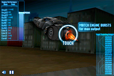 The Dark Knight - Batmobile v1.0 Game for iPhone / iPod Touch FULL