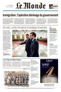 Le Monde du Jeudi 11 Janvier 2018