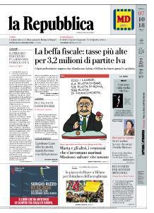 la Repubblica - 7 Ottobre 2018