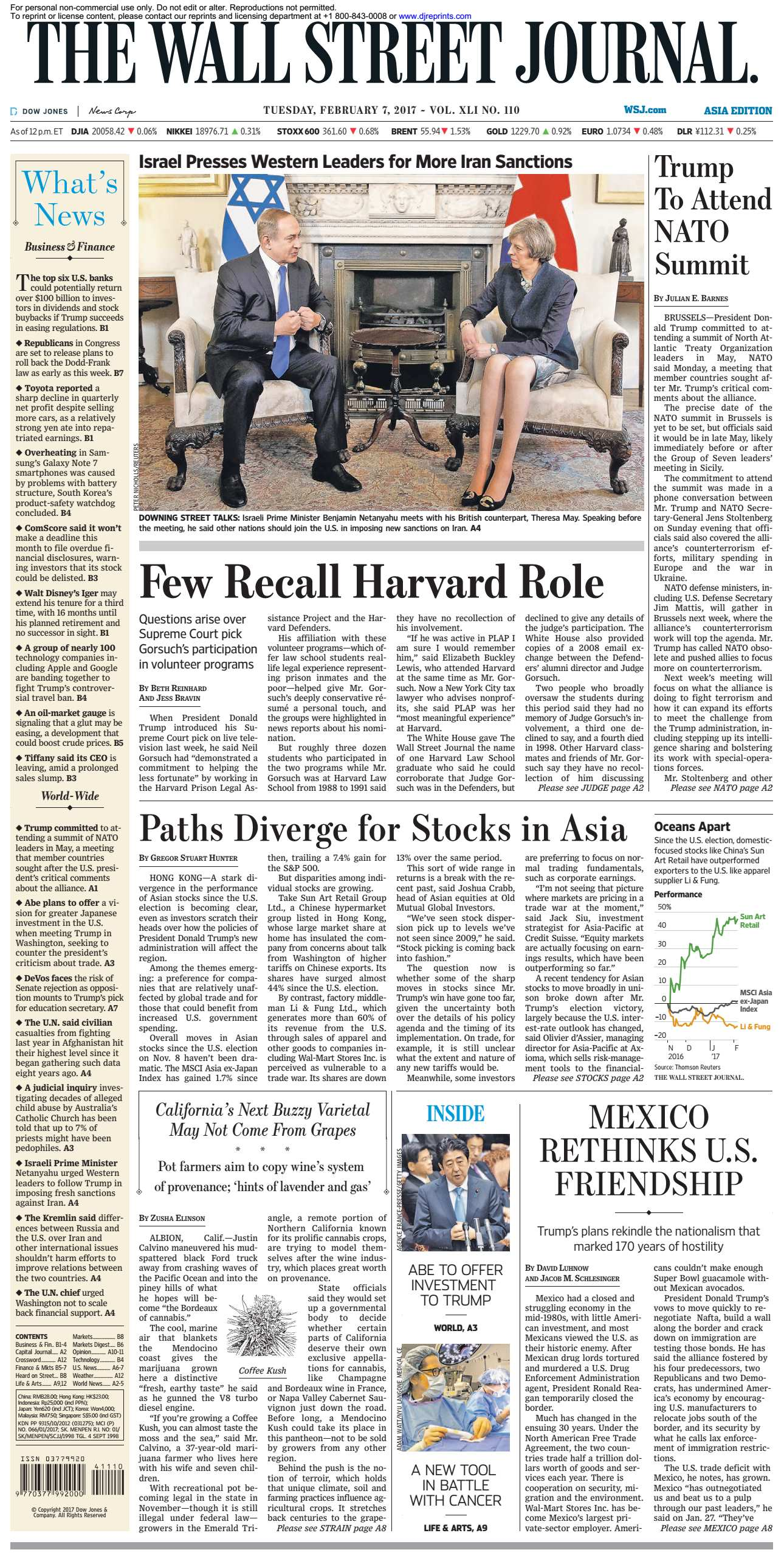 The Wall Street Journal Asia  February 07 2017