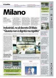 la Repubblica Milano - 6 Luglio 2018