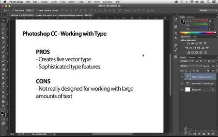 Photoshop CC Working with Type