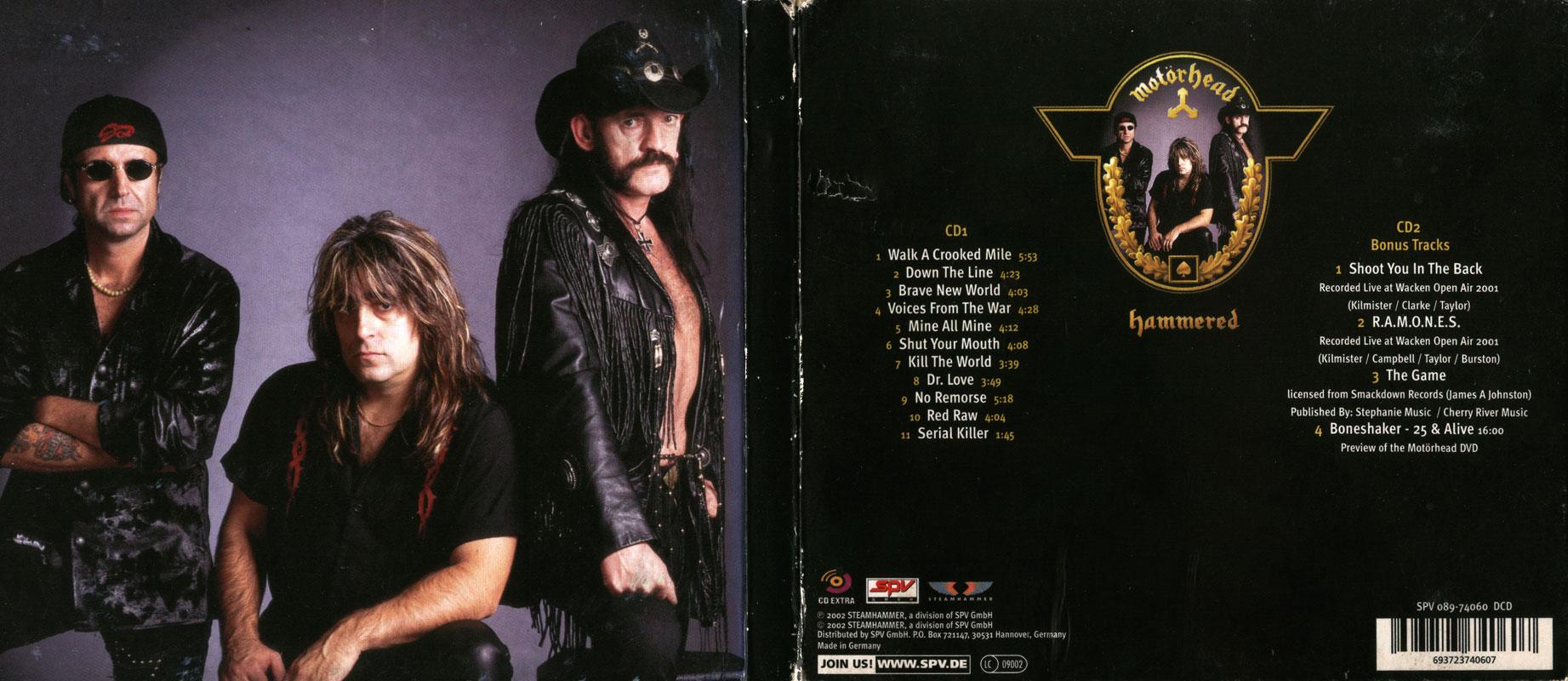 Motörhead - Hammered (2002) [2CD, Limited Edition] / AvaxHome
