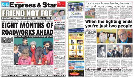 Express and Star Sandwell Edition – March 20, 2018