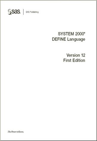 SYSTEM 2000 DEFINE Language v12