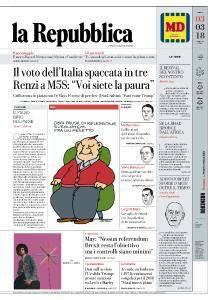 la Repubblica - 3 Marzo 2018