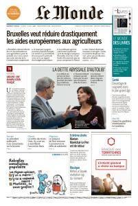 Le Monde du Vendredi 1er Juin 2018