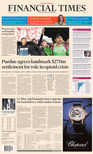 Financial Times Europe – 27 March 2019