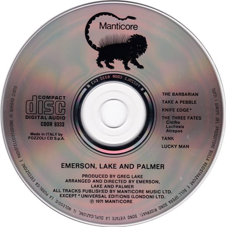 Emerson, Lake & Palmer - Emerson, Lake & Palmer (1970) {198?, Reissue}
