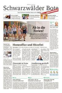 Schwarzwälder Bote St. Georgen, Triberg, Furtwangen - 26. Juli 2019
