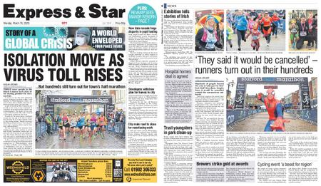 Express and Star City Edition – March 16, 2020